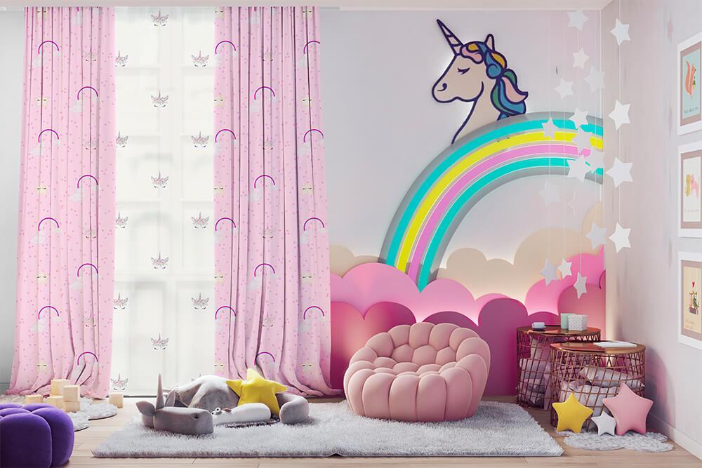 Unicornios Arcoíris estampado